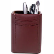 DACASSO® Chocolate Brown Leather Pencil Cup