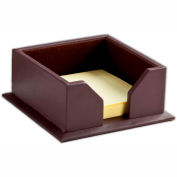 "DACASSO® Chocolate Brown Leather 3"" x 3"" Sticky Note Holder"