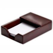 "DACASSO® Econo-Line Dark Brown Leather 4"" x 6"" Memo Holder"