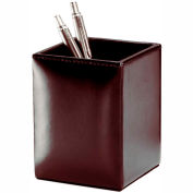 DACASSO® Econo-Line Dark Brown Leather Pencil Cup