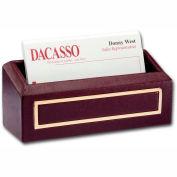 DACASSO® Burgundy 24Kt Gold Tooled Business Card Holder