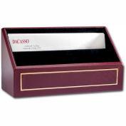 DACASSO® Burgundy Leather 24Kt Gold Tooled Letter Holder