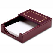 "DACASSO® Burgundy 24Kt Gold Tooled 4"" x 6"" Memo Holder"