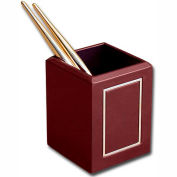 DACASSO® Burgundy 24Kt Gold Tooled Pencil Cup