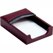 """DACASSO® Two-Tone Leather 4"""" x 6"""" Memo Holder"""
