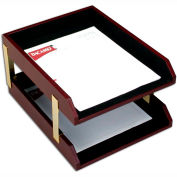 DACASSO® Two-Tone Leather Double Letter Trays