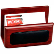 DACASSO® Rosewood & Leather Business Card Holder