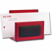 DACASSO® Rosewood & Leather Letter Holder