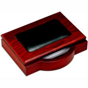 "DACASSO® Rosewood & Leather 4"" x 6"" Memo Holder"