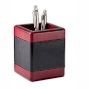 DACASSO® Rosewood & Leather Pencil Cup