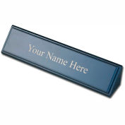 DACASSO® Blackwood and Leather Name Plate