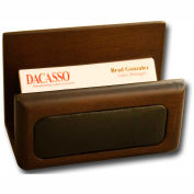 DACASSO® Walnut & Leather Business Card Holder