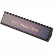 DACASSO® Walnut & Leather Name Plate