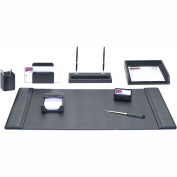 DACASSO® Black Leather 8-Piece Desk Set