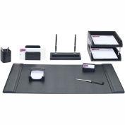 DACASSO® Black Leather 10-Piece Desk Set