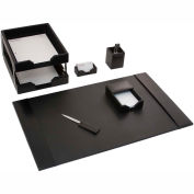 DACASSO® Black Leather 8-Piece Econo-Line Desk Set