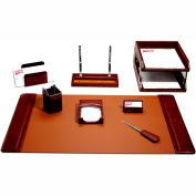 DACASSO® Mocha Leather 10-Piece Desk Set