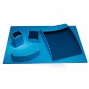 DACASSO® Dacasso Colors Faux Leather 5pc Office Organizing Desk Set - Sky Blue