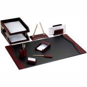 DACASSO® Burgundy Contemporary Leather 10-Piece Desk Set