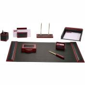 DACASSO® Rosewood & Leather 8-Piece Desk Set