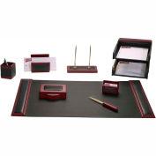 DACASSO® Rosewood & Leather 10-Piece Desk Set