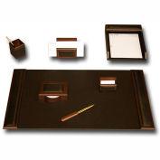 DACASSO® Walnut & Leather 7-Piece Desk Set