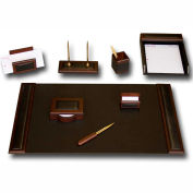 DACASSO® Walnut & Leather 8-Piece Desk Set