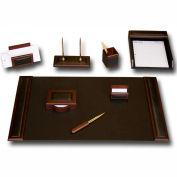 DACASSO® Walnut & Leather 8-Piece Desk Set