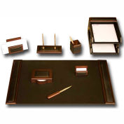 DACASSO® Walnut & Leather 10-Piece Desk Set