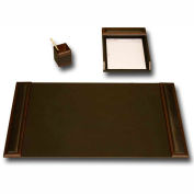 DACASSO® Walnut & Leather 3-Piece Desk Set