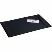 "DACASSO® Black Leather 34"" x 20"" Side-Rail Desk Pad"