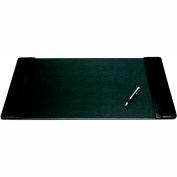 "DACASSO® Black Leather 25.5"" x 17.25"" Side-Rail Desk Pad"