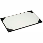 """DACASSO® Black Leather 38"""" x 24"""" Desk Pad with Blotter Paper"""