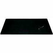 "DACASSO® Black Leather 38"" x 24"" Desk Mat without Rails"