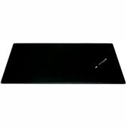 "DACASSO® Black Leather 30"" x 19"" Desk Mat without Rails"