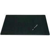 "DACASSO® Black Leather 24"" x 19"" Desk Mat without Rails"