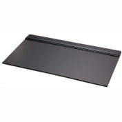 "DACASSO® Black Leather 34"" X 20"" Top-Rail Desk Pad"