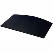 "DACASSO® Black Leather 34"" x 24"" Arched Desk Mat without Side-Rails"
