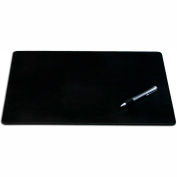 "DACASSO® Black Leatherette 24"" x 19"" Desk Mat without Rails"