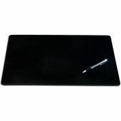 """DACASSO® Black Leatherette 24"""" x 19"""" Desk Mat without Rails"""
