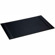 "DACASSO® Rustic Black Leather 34"" x 20"" Side-Rail Desk Pad"