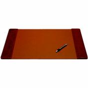 "DACASSO® Mocha Leather 25.5"" x 17.25"" Side-Rail Desk Pad"