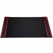 "DACASSO® Burgundy 24kt Gold Tooled 34"" x 20"" Side-Rail Desk Pad"