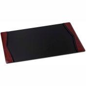 "DACASSO® Burgundy Leather 34"" x 20"" Side-Rail Desk Pad"