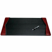 "DACASSO® Burgundy Leather 25.5"" x 17.25"" Side-Rail Desk Pad"
