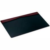 "DACASSO® Burgundy Leather 34"" X 20"" Top-Rail Desk Pad"