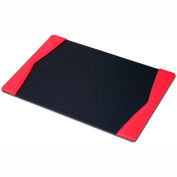 """DACASSO® Red Leather 22"""" x 14"""" Side-Rail Desk Pad"""