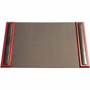 "DACASSO® Rosewood & Leather 25.5"" x 17.25"" Side-Rail Desk Pad"