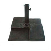 DC America Square Cast Stone Outdoor Umbrella Base
