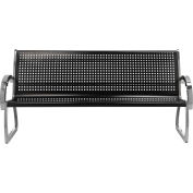 Skyline Black Steel/Stainless Steel 4' Bench